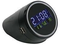 USB 2.0 hub 4-port + time en temperatuur