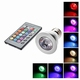 RGB Led spot + afstand bed.  E27 5W.