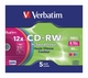 Verbatim CD-RW 80min 5-stuk